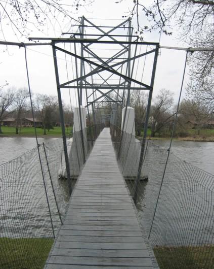 Charles city swinging bridge