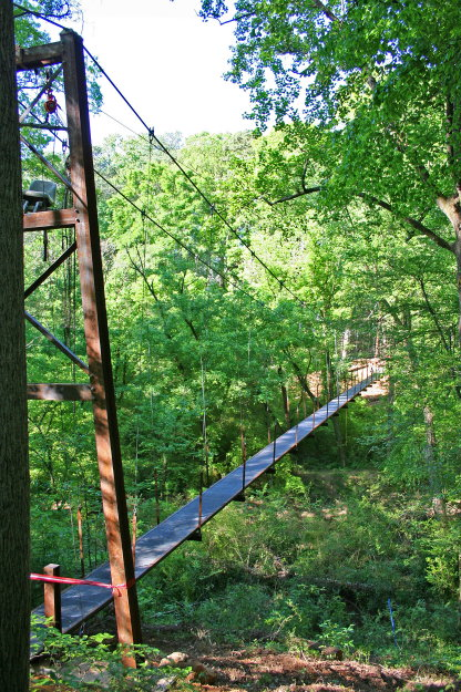 Bridgemeister lullwater preserve suspension footbridge for Lull water