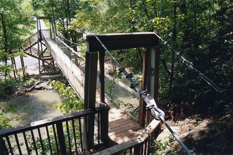Bridgemeister pinnacle nature preserve suspension footbridge for Suspension nature