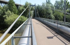 Neckar River Cable-stayed Pipeline and Footbridge